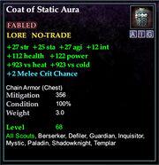 Coat of Static Aura