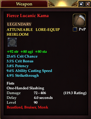 Fierce Lucanic Kama