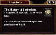 The History of Barbarians (House Item)