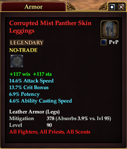 Corrupted Mist Panther Skin Leggings