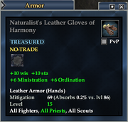 Naturalist's Leather Gloves of Harmony