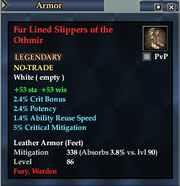 Fur Lined Slippers of the Othmir