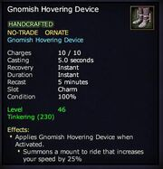 Gnomish Hovering Device