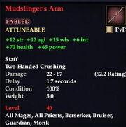 Mudslinger's arm