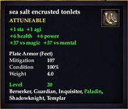 Sea salt encrusted tonlets