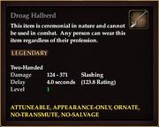 Droag Halberd