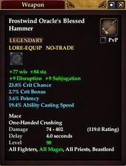 Frostwind Oracle's Blessed Hammer