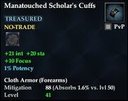 Manatouched Scholar's Cuffs