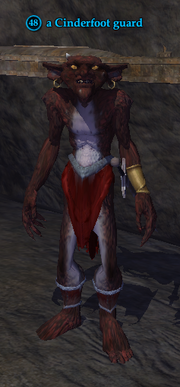 A Cinderfoot guard