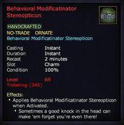 Behavioral Modificatinator Stereopticon LU35