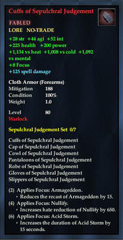 Cuffs of Sepulchral Judgement