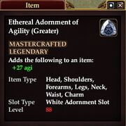 Ethereal Adornment of Agility (Greater)