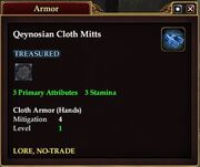 Qeynosian Cloth Mitts