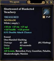 Shortsword of Blanketed Treachery