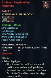 Archon's Resplendent Pauldrons