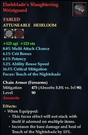 Darkblade's Slaughtering Wristguard