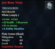 Jaw Bone Visor