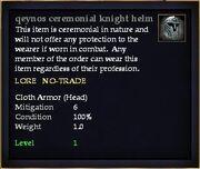 Qeynos ceremonial knight helm