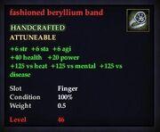 Fashioned beryllium band