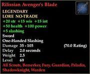 Rilissian Avenger's Blade