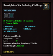 Breastplate of the Enduring Challenge
