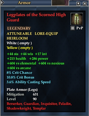 Legplates of the Scorned High Guard