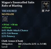 Magus's Ensorcelled Satin Robe of Blasting