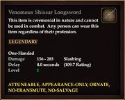 Venomous Shissar Longsword