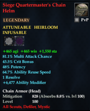Siege Quartermaster's Chain Helm