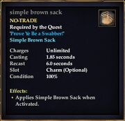 Simple brown sack