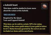 A kobold heart