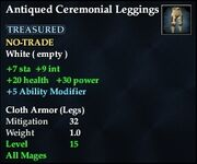 Antiqued Ceremonial Leggings