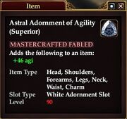 Astral Adornment of Agility (Superior)