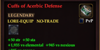Cuffs of Acerbic Defense