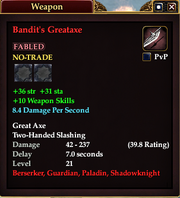 Bandit's Greataxe