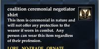 Coalition ceremonial negotiator shirt