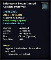 Effloresecent Serum-Infused Antidote Prototype