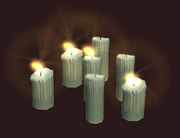 Grouped Melting Candles (Visible)