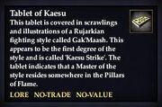 Tablet of Kaesu