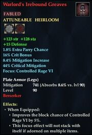 Warlord's Irebound Greaves