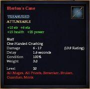 Blerton's Cane