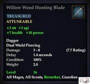 Willow Wood Hunting Blade