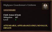 Highpass Guardsman's Uniform