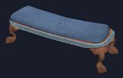 Mahogany short bench (Visible)