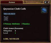 Qeynosian Cloth Cuffs