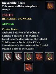 Inexorable Boots