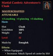 Martial Cambric Adventurer's Cloak