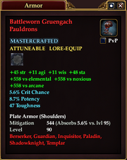 Battleworn Gruengach Pauldrons