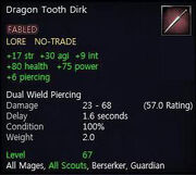 Dragon Tooth Dirk