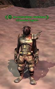 An overzealous watchman